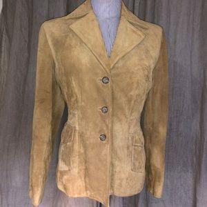 Banana Republic camel khaki leather suede jacket S